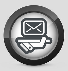 Postal agencies icon vector
