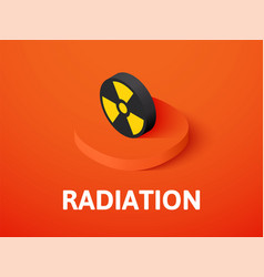 Radiation isometric icon isolated on color vector