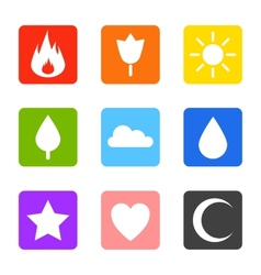 Random abstract icons set vector