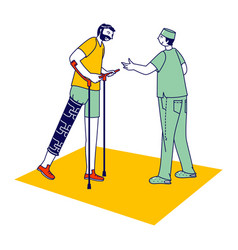 Rehabilitation disabled physiotherapy correction vector
