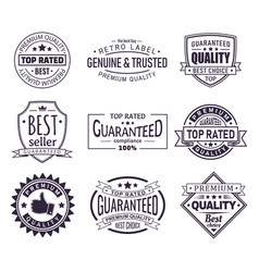 retro or vintage logo for company brand stamp vector image