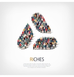 Riches people sign vector