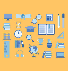 school supplies educational accessories vector image