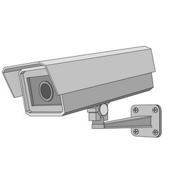 security serveillance camera gray flat drawing vector image