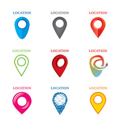 set of geolocation logos vector image