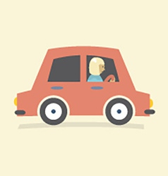 Single Woman Drive A Car vector image