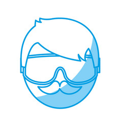 snorkel equipment icon vector image