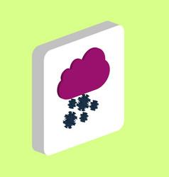snowfall cloud computer symbol vector image