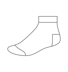Sock template vector image