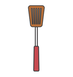 Spoon bbq cutlery icon vector