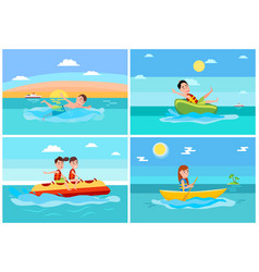 sport activities collection vector image
