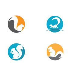 Squirrel symbol vector