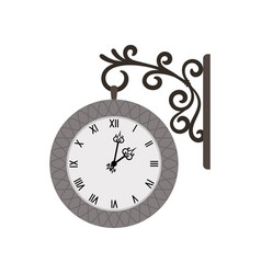 Street vintage wall clock vector