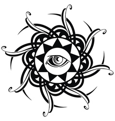 Tattoo Eye vector image