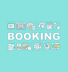 tickets hotel booking word concepts banner vector image