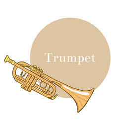 Trumpet in hand-drawn style vector