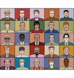 Twenty five adult men vector