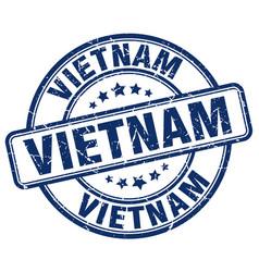 vietnam blue grunge round vintage rubber stamp vector image
