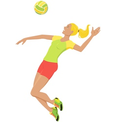 volleyball girl vector image