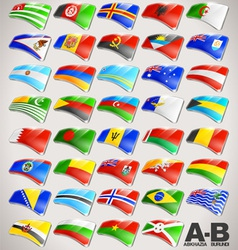 World Flags Icon Collection from A to B vector image