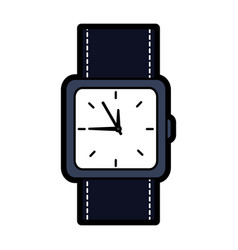 Wristwatch accessory time fashion icon vector