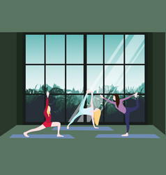 yoga class template vector image