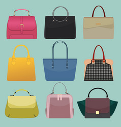 glamour fashion bags vector image