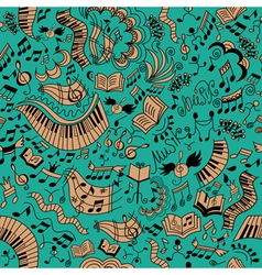 Musical seamless background Doodles pattern vector image vector image
