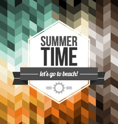 Seamless Geometric Pattern Summer Time vector image