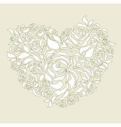 wedding card decoration vector image vector image
