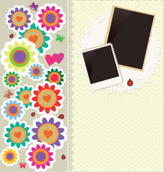 Abstract cute flower background vector image