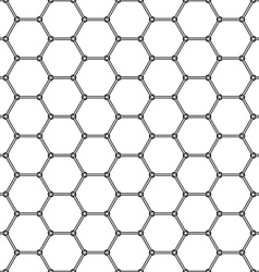 Abstract hexagonal pattern vector image