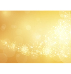 Golden sparkling star and snowflake border vector image vector image