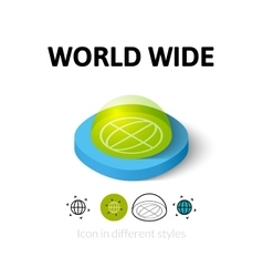 World wide icon in different style vector image vector image