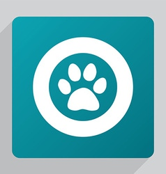 flat cat footprint icon vector image