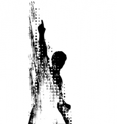 grunge man vector image vector image