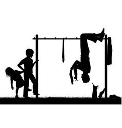 Playground Silouhette vector image vector image