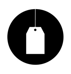 tag hanging isolated icon vector image