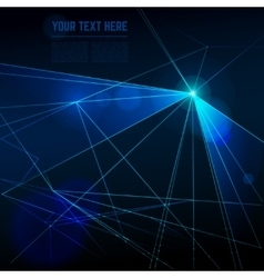 Abstract laser lights background vector image vector image