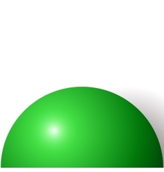 Abstract minimal frame with green ball vector image vector image