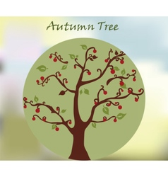 Autumn environment tree with leaves vector image