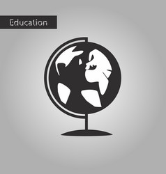 Black and white style icon globe vector