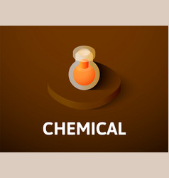 chemical isometric icon isolated on color vector image vector image