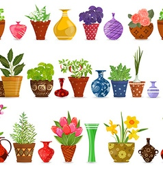 collection isolated seamless borders with herbs vector image vector image