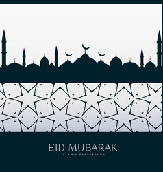 eid festival greeting design background vector image vector image