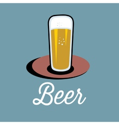 glass of beer on the table vector image