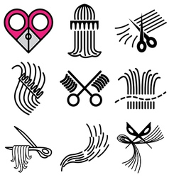 Logo icons barbershop vector