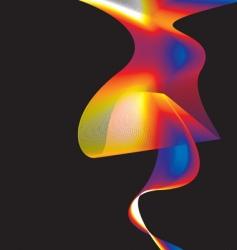 rainbow wave background vector image