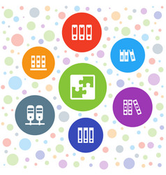 7 order icons vector image