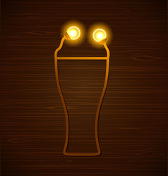 abstract beer glass vector image
